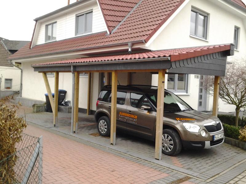 Zaunbau hannover ronnenberg dierk langhorst carport zaun for Carport hannover